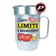 Caneca de Chopp Cerveja Quem Tem Limite é Munícipio, Nós Não