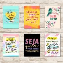 Placas Decorativas com Frases Motivacionais