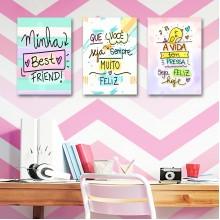 Plaquinhas Decorativas com Frases
