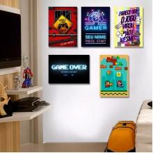 Placas Decorativas para Quarto Gamer