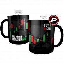Caneca Trader Preta Personalizada com Nome