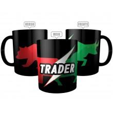 Caneca Day Trader Preta - Touro X Urso