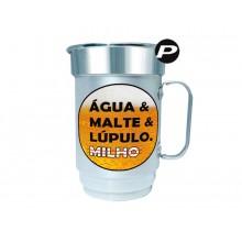 Caneca de Chopp e Cerveja Água & Malte & Lúpulo