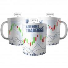 Caneca Trader Personalizada com Nome - Presente Investidor