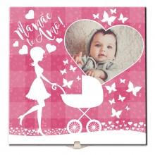 Azulejo de Quadro Presente Mamãe Te Amo com Foto do Bebê