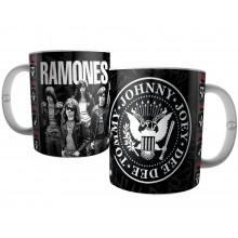 Caneca Banda Ramones - Tommy, Jhonny, Joey e Deedee