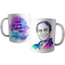 Caneca Carl Sagan - Nós Somos Feitos de Poeira de Estrelas