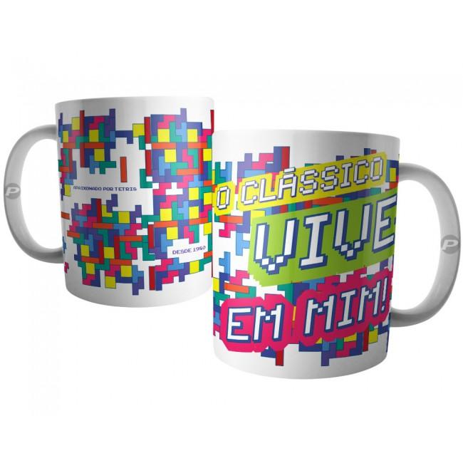 Caneca Apaixonado por Tetris - O Clássico Vive em Mim