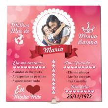 Quadro de Azulejo Mãe - Presente Dia das Mães ou Aniversário com Foto