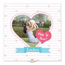Quadro de Azulejo Presente Mãe - Dia das Mães com Foto e Nome