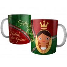 Caneca Natal com Menino Jesus - Presente de Natal