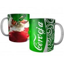 Caneca Papai Noel Bebendo Cerveja - Presente de Natal