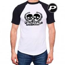 Camiseta Banda Green Day - Caveiras