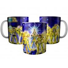 Caneca 12 Cavaleiros de Ouro - Os Cavaleiros do Zodíaco