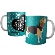Caneca Cachorro Beagle - Amo Meu Pet Amigo Anjo Fiel