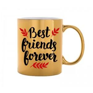 Caneca Dourada Best Friends Forever