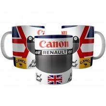 Caneca Capacete Nigel Mansell Campeão F1 de 1992