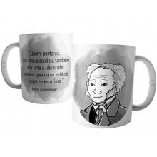 Caneca Frase do Filósofo Arthur Schopenhauer