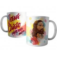 Caneca Jesus Cristo - Ele Vive em Mim
