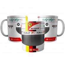 Caneca Capacete Sebastian Vettel - Piloto de Fórmula 1