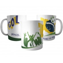 Caneca Brasil Copa 2018 - Seleção Brasileira Rumo ao Hexa