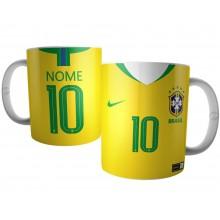 Caneca Camisa Seleção Brasileira Copa 2018