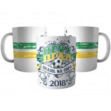 Caneca Hexa Brasil Copa de 2018 - Seleção Brasileira Futebol
