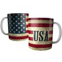 Caneca Bandeira Americana USA - Estados Unidos - EUA